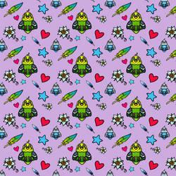 Budgie Friends Pattern by SilverSugar