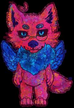 Galaxy Wolf Chibi