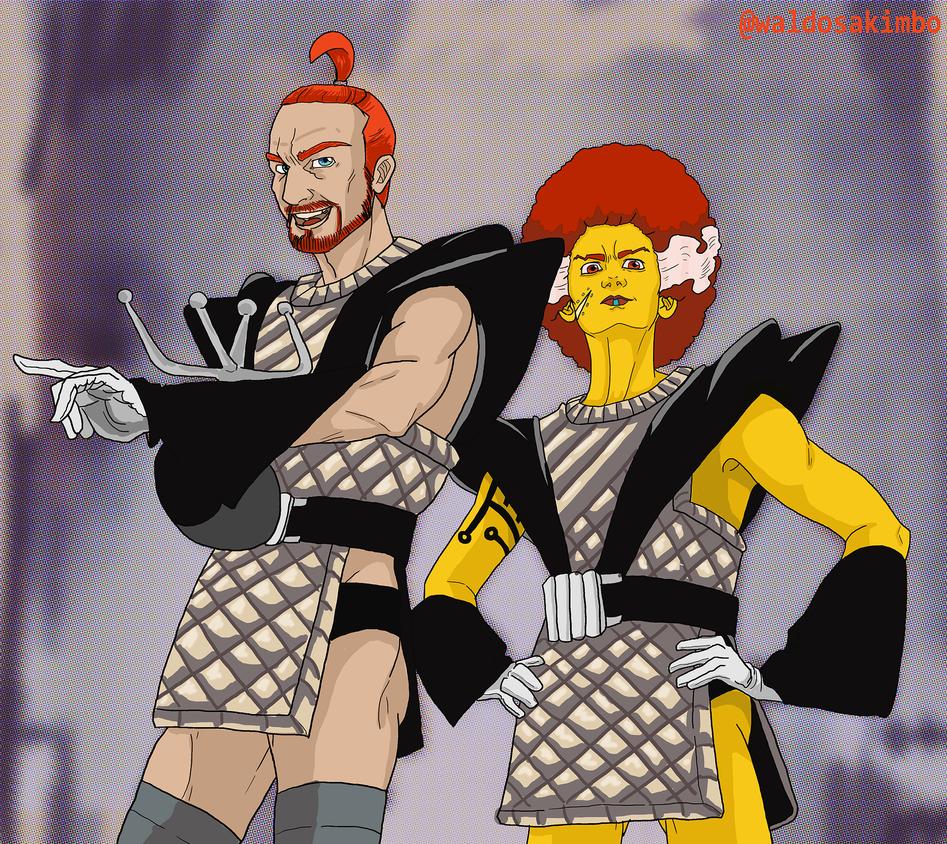 Riffraff and Magenta by krazykavumaster