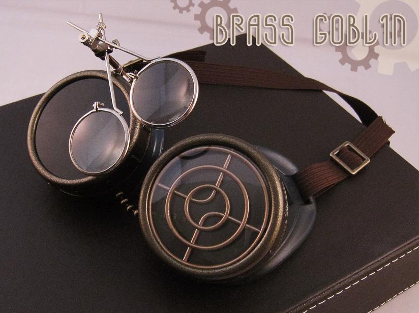 Blue Steampunk Goggles by brassgoblin