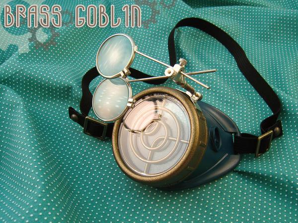 Steampunk Mono-Goggles by brassgoblin