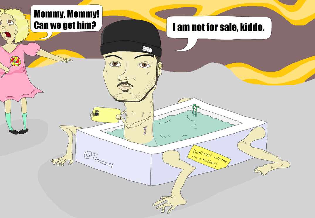 Tim Pool in his real form by Sikojensika