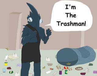 Cookie is THE TRASHMAN [Commission] by Sikojensika