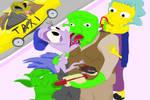 Shrek and the Geriatric nymphos by Sikojensika