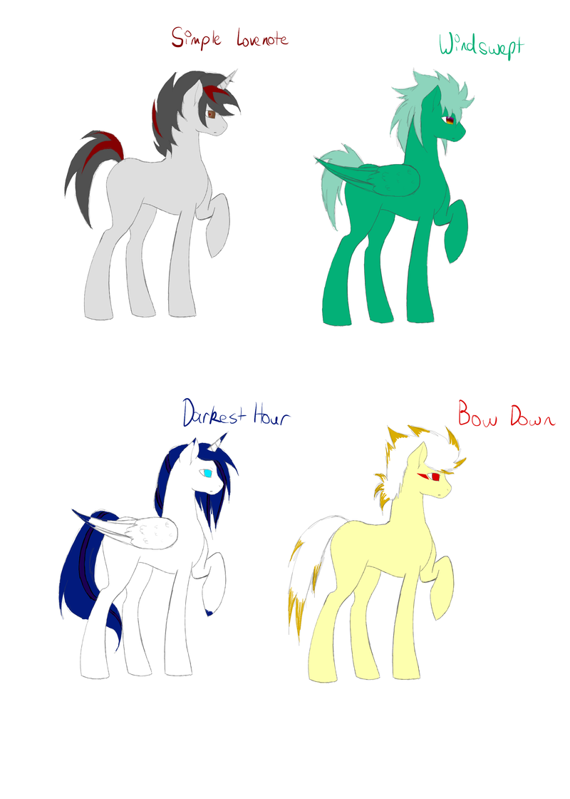 Auction Stallions -CLOSED- by BleedingAutumn