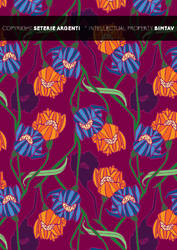 Liberty style flower pattern 01