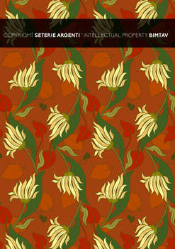Liberty style flower pattern 03