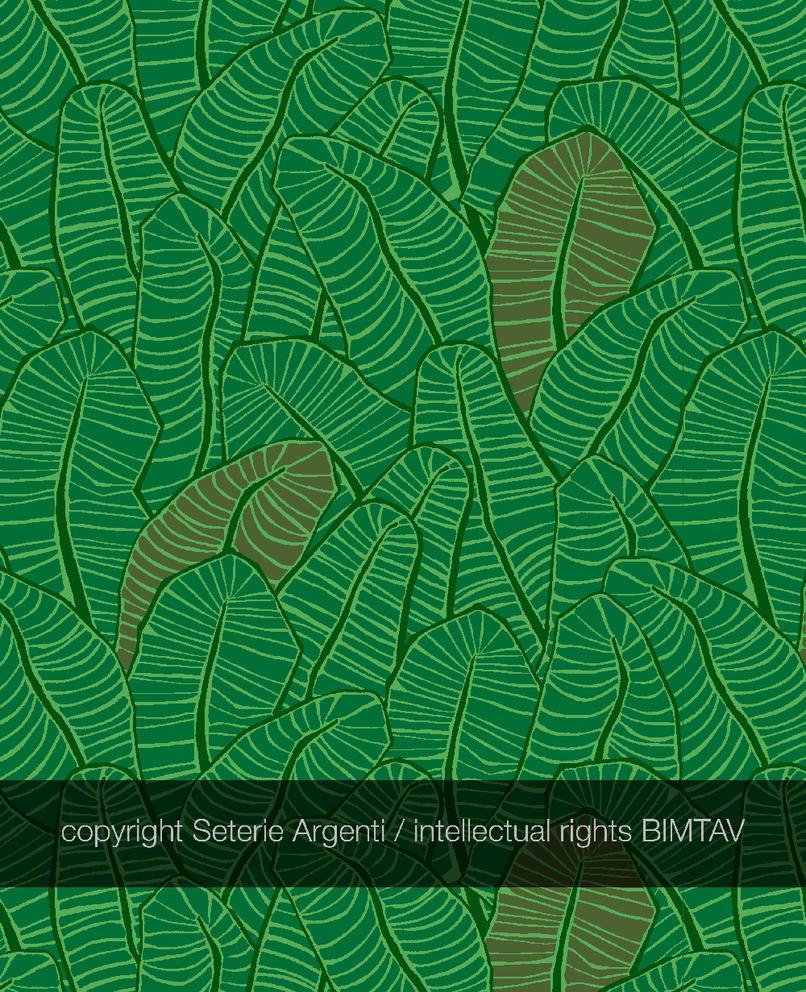 Tropical Palm leaf pattern by Bimtav
