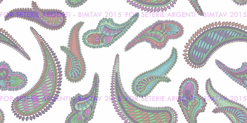 Paisley for Seterie Argenti by Bimtav