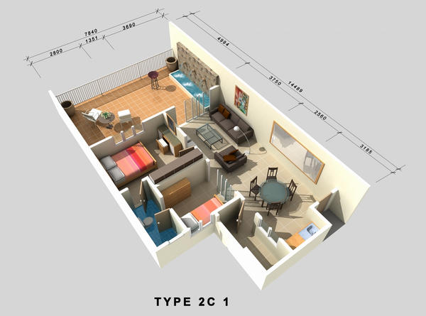 3d floor plan by ugpstudio