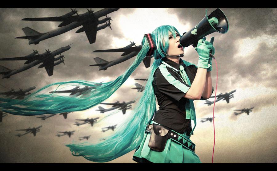 hatsune miku love is war cosplay by dollarsleader101 on