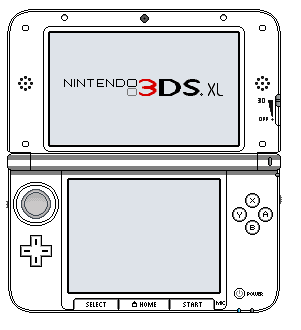 Nintendo 3DS XL Special Edition Template by CouyZexal on DeviantArt