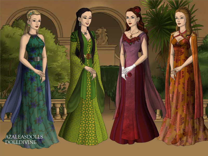 Four Princesses by WhisperingWindxx