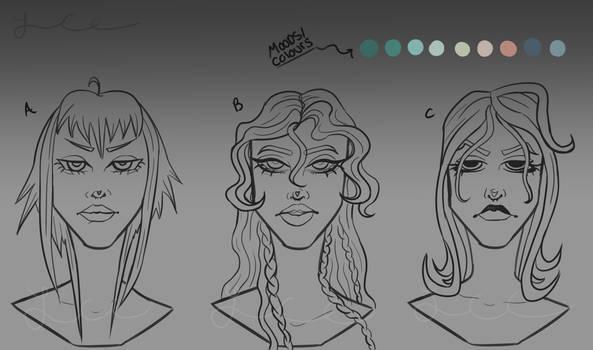 new oc/mascot head concepts v2