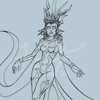 FFXIV - Shiva WIP / Sketch