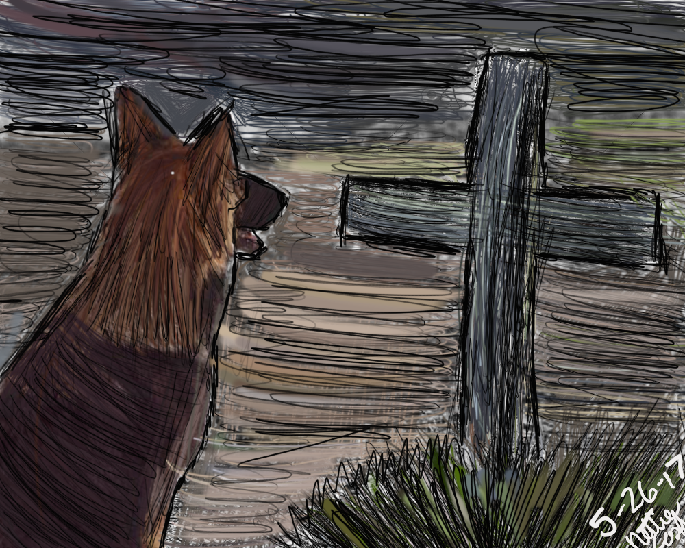 Grave Sketch by Fox-Minx