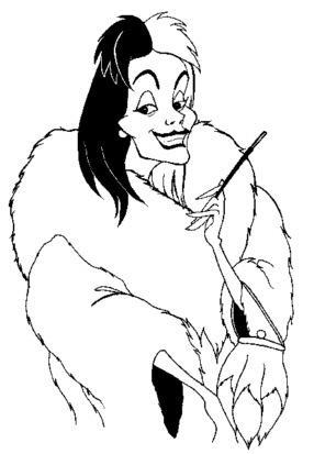 Cruella De Vil Coloring Pages