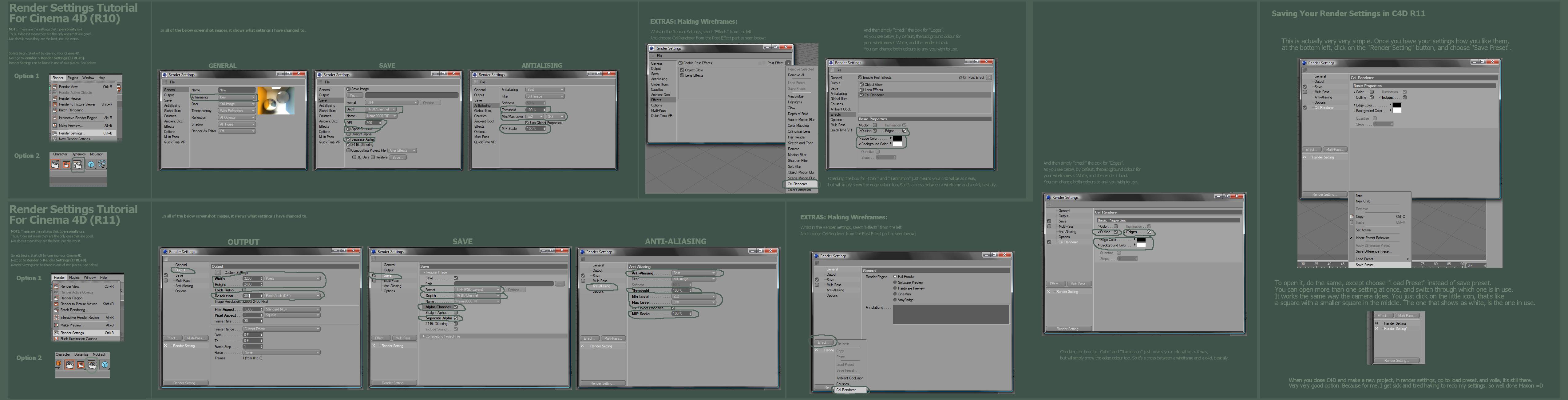 c4d r10 r11 render settings by stinky666 on deviantart. Black Bedroom Furniture Sets. Home Design Ideas