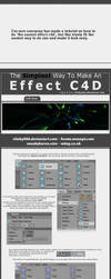 SIMPLEST Effect C4D Tut by stinky666