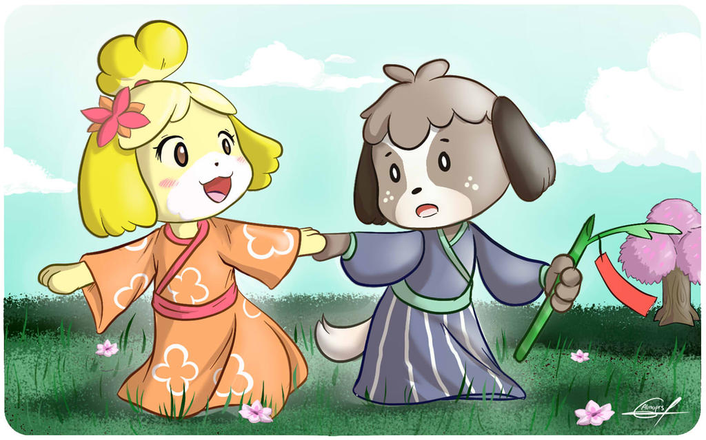 Isabelle and Digby by Almoprs