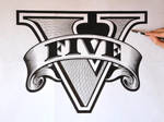 Drawing of GTA 5 logo
