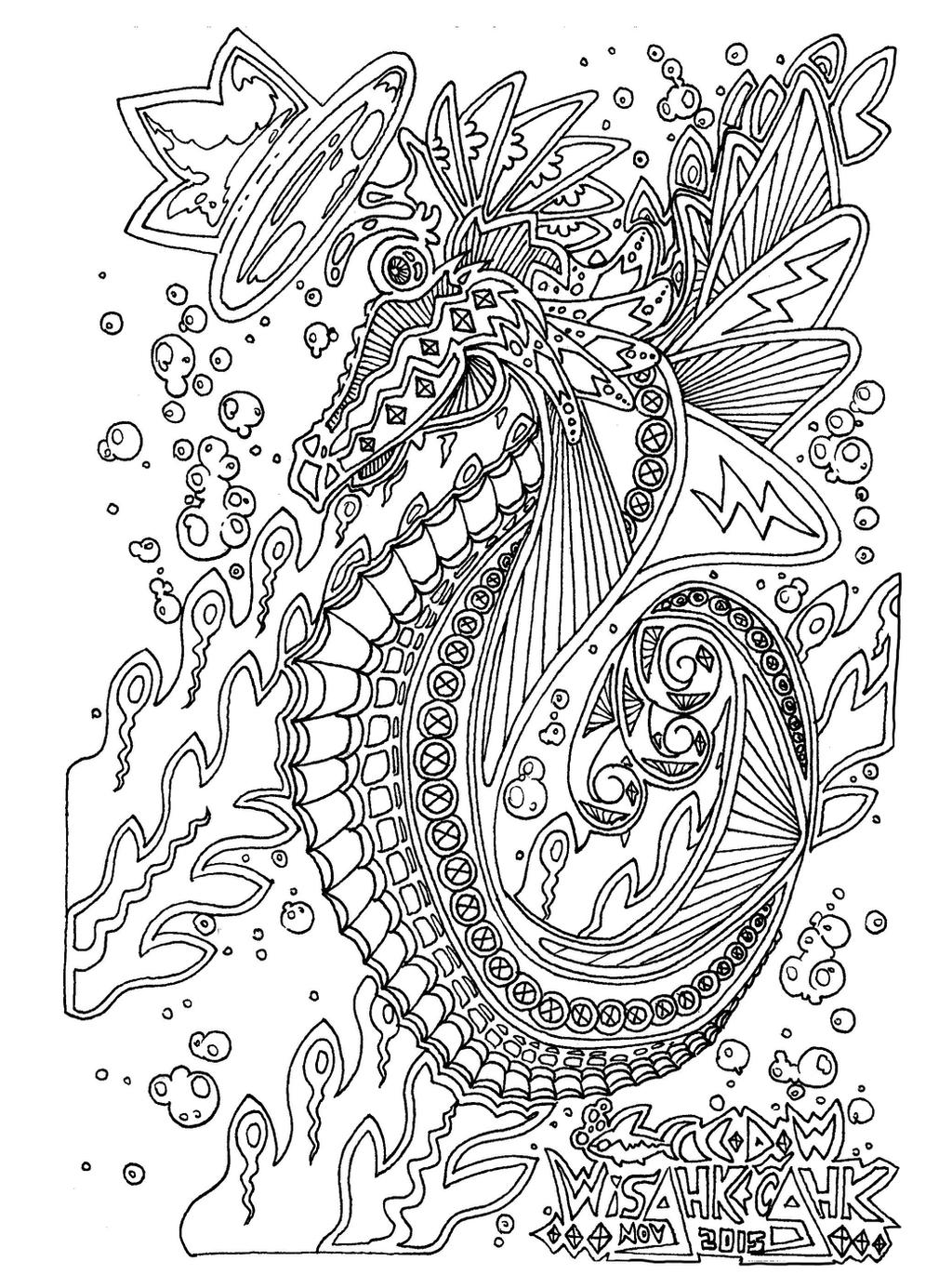 Sensational mr seahorse by wisahkecahk on deviantart for Mister seahorse coloring page