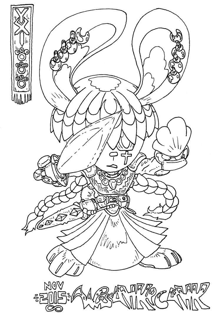 Young Lady Lagomorph Chibi Paladin Knight by wisahkecahk