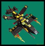 Blacktron Asteriod Assassian Ship by wisahkecahk