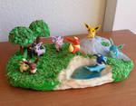Eevee and evolutions pokemon diorama