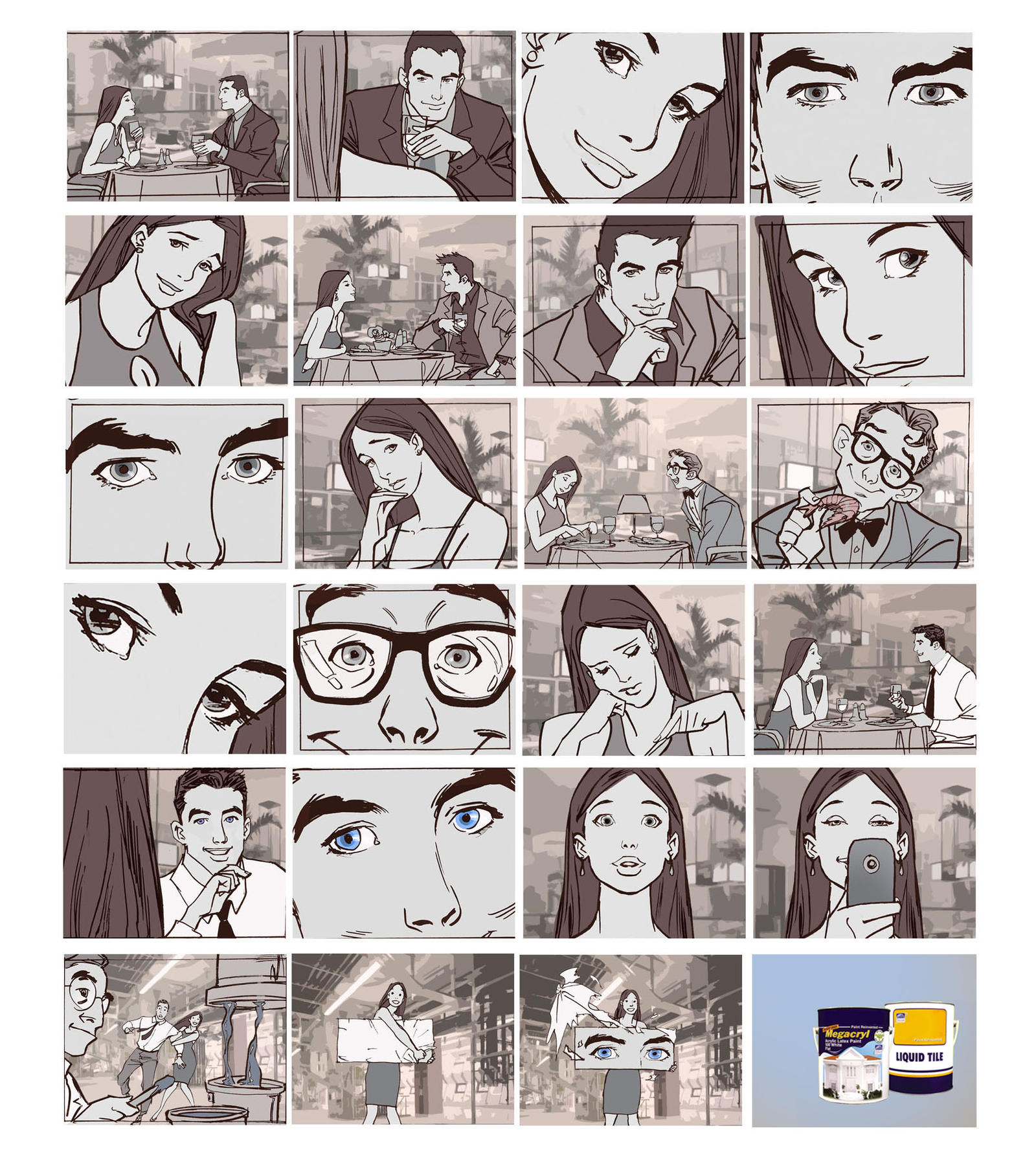 Tv Commercial Storyboard2 By Makulayangbuhay On DeviantArt