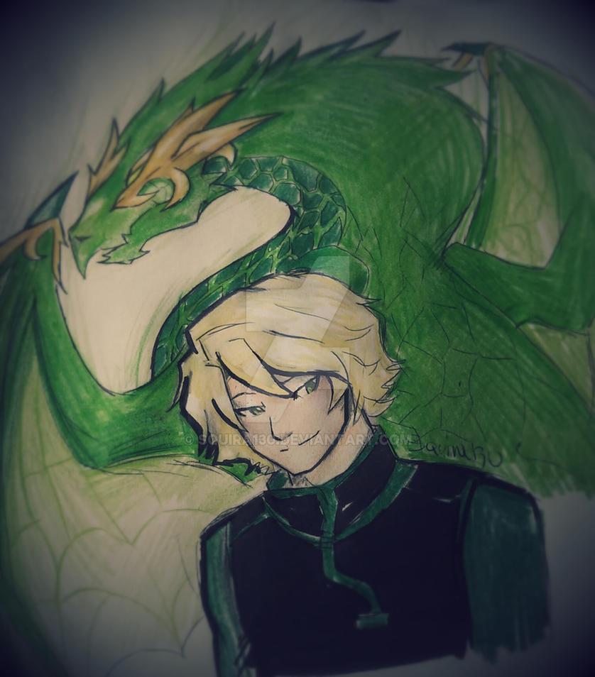 Ninjago Lloyd And Dragon By Squira130 On Deviantart