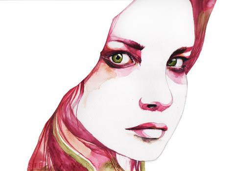 Gouache Study: Portrait of a Girl