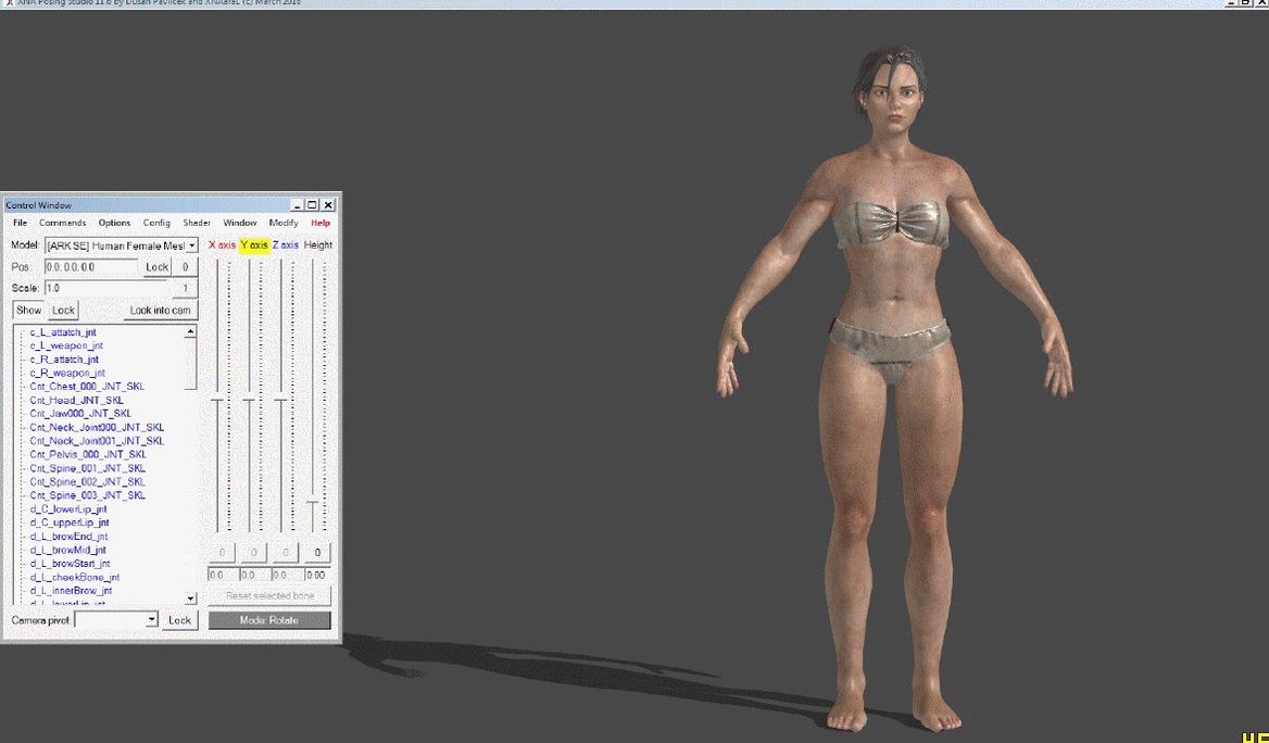 [ARK:SE] Human Female With Optional Outfits (wip) by