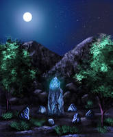 The druid's stone by Laura-Cadei
