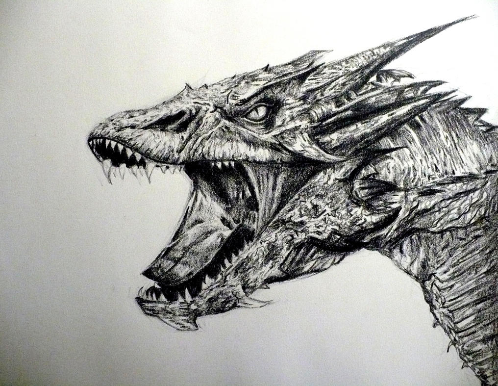 how to draw realistic smaug