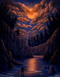 Moonlight walk by Laura-Cadei