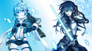 Sinon and Kirito - Gun Gale Online