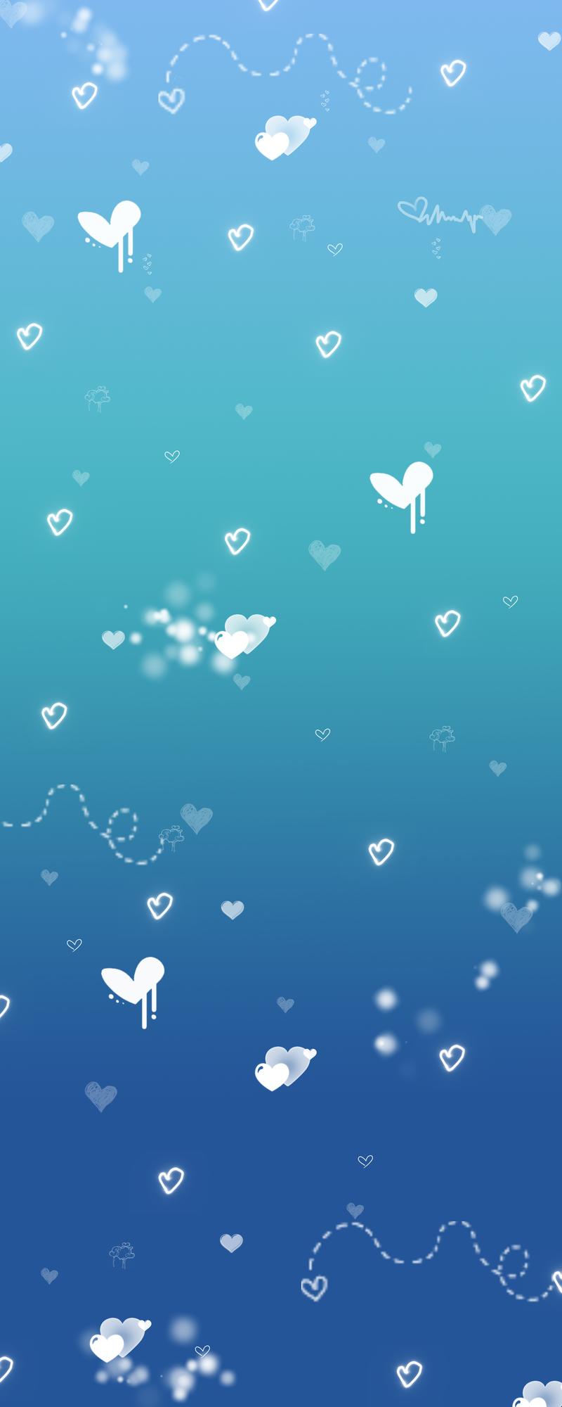 Blue Heart BG by TaNa-Jo