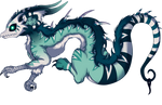 CLOSED Green white Loki Dragon character adopt