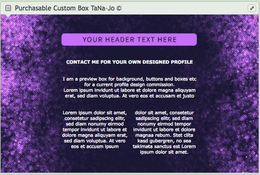 Purple Spark Custom Box Design