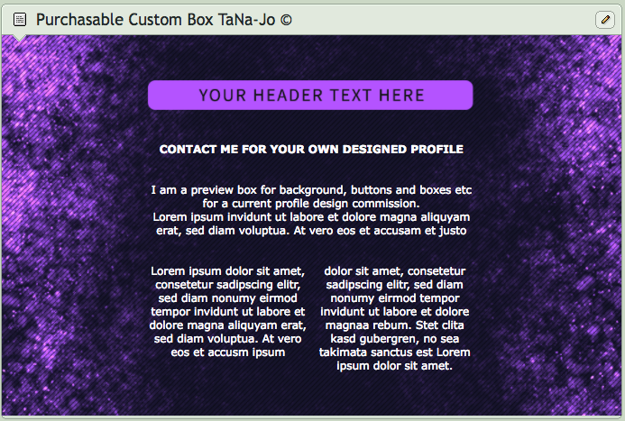 Purple Spark Custom Box Design By TaNa Jo