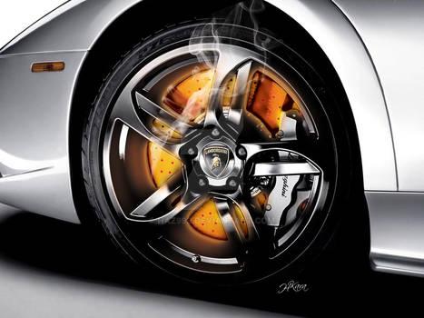Lamboghini Glowing Disc brakes