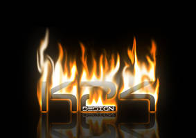K24 Design Logo on Fire by haz999