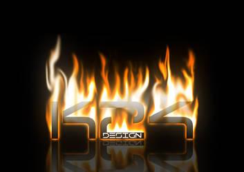 K24 Design Logo on Fire