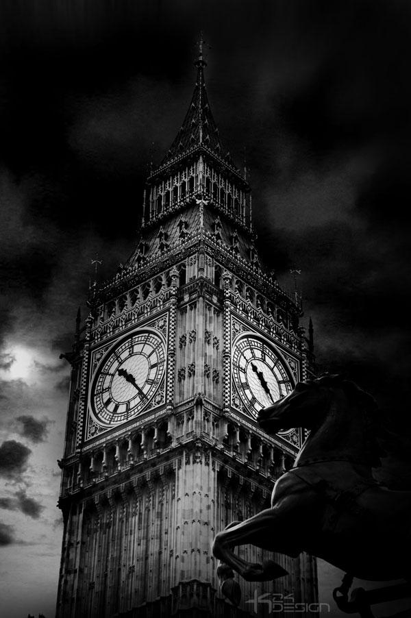 Big Ben in Black and White by haz999