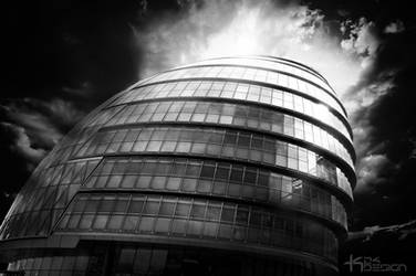 City Hall, London in Black and White