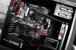 Aerocool DS200 Custom PC Build Red Cabling