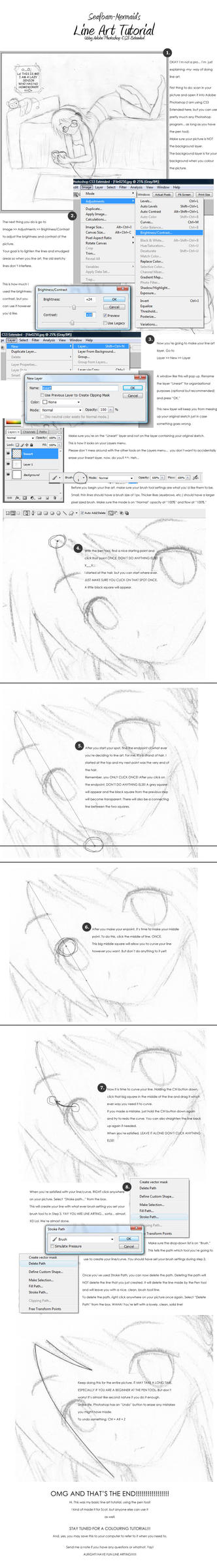 Line Art Tutorial - PS CS3 by JennyWheat
