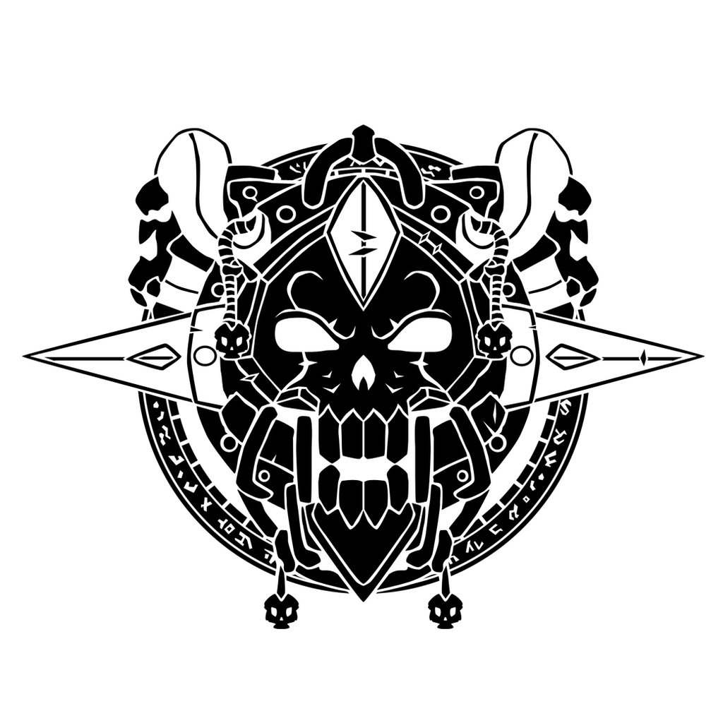 Death knight crest by ropa to on deviantart for Symbols of death tattoos