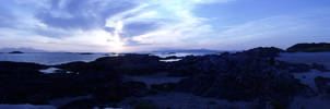Panoramic Photo of Sunset on Arisaig Beach